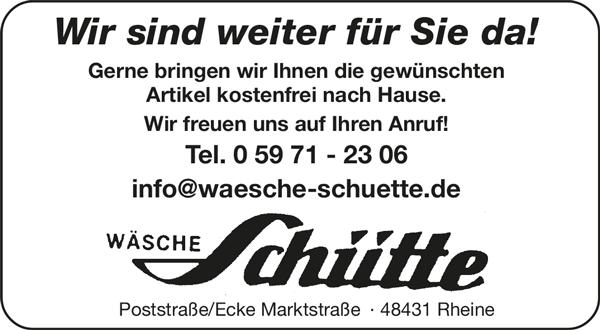 Wäsche Schütte