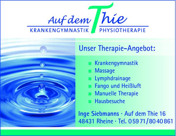 Inge Siebmanns Krankengymnastik u Physiotherapie